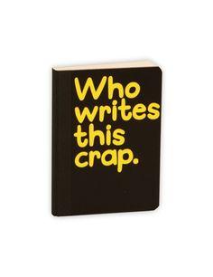 Waldo Pancake Notebook, Crap
