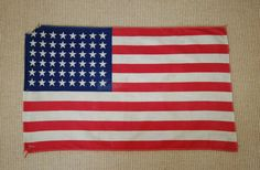 48 Star American Flag, USA Red White Blue Parade Flag, 1940s American Flag, Fourth of July, Stars and Stripes - SOLD! :)