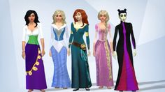 Some of the new Disney princesses created from Sims 4- very creative and look exactly like they are in the films!