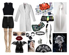 """Soul Eater Professor Stein"" by livylash ❤ liked on Polyvore featuring Love Moschino, Iron Fist, Lime Crime, John Hardy and Carolina Glamour Collection"