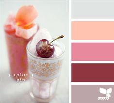 cool color palette for girls room Colour Schemes, Color Combos, Paint Schemes, Living Colors, Cool Color Palette, Color Lila, Tropical Colors, Design Seeds, Colour Board
