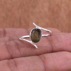 Raw Gemstone Ring, Gemstone Jewelry, Handmade Rings, Raw Gemstones, Statement Rings, Sterling Silver Rings, Czech Republic, Casual Wear, Attraction