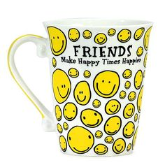 Best Mug For Friend #BestMugForFriend Friends Make Happy Times Happy. #mugs #coffeemugs Size : 12 X 9 X 11. | Rs. 374 | Shop Now | https://hallmarkcards.co.in/collections/friendship-day/products/best-gift-for-friend