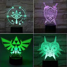 3D The Legend of Zelda Led Remote touch Night Light Neon Sign Game Room Legend Of Zelda Timeline, Zelda Skyward, Zelda Twilight Princess, Neon Nights, Legend Of Zelda Breath, Gamer Gifts, Breath Of The Wild, Room Signs, Game Room