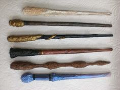 Warrior Girl- Rowena Murillo: DIY Harry Potter Wands II: Paper Mash, Kraft Paper, String and Paint.
