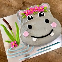Hippo Cake Kit 2019 Hippo Cake Kit includes everything you need to bake & decorate. This easy Hippo Cake is perfect for baby showers and first birthdays. Perfect for Jungle Theme Party Ideas. The post Hippo Cake Kit 2019 appeared first on Birthday ideas. Animal Birthday Cakes, First Birthday Cakes, Birthday Cake Girls, Jungle Birthday Cakes, Birthday Ideas, Birthday Gifts, Animal Cakes For Kids, Easy Cakes For Kids, Zoo Animal Cakes