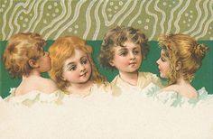 Kaart en diverse Victoriaanse illustratie