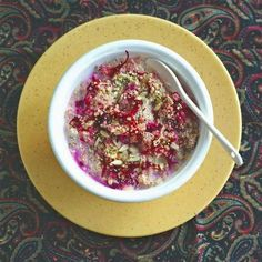 Pink Breakfast Bowl - yep, beets! Love this!