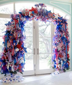 Independence Day Decor... Done! | Turtle Creek Lane Celebration Around The World, 4th Of July Celebration, 4th Of July Party, Fourth Of July, 4th Of July Wreath, Graduation Celebration, Victory In Europe Day, Independence Day Wallpaper, Creative Flower Arrangements