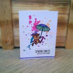A card for a friend I miss dearly.  @heymamaelephant #mamaelephant