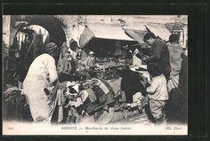 splendide CPA Bizerte, Marchands de vieux habits