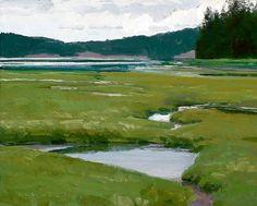 Maynard Dixon Country Plein Air Painting Len Chmiel Isthmus Marrowstone Island