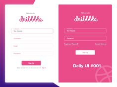 Daily UI Welcome to Dribble designed by Ihor Hrynda. Daily Ui, Saint Charles, Show And Tell, Welcome