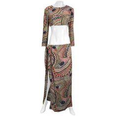 5c5dca8920569 1960s Christian Dior Couture Beach Short and Dress Set