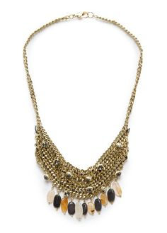 MANGO - TOUCH - Embellished chains necklace