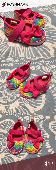 NWOT Baby Girl's Size 2 Stepping Stones Shoes 🌺 Brand New Without tags, Baby Girl's Size 2 Stepping Stones Rainbow Chevron Sequin Shoes! Sooo cute! Stepping Stones Shoes Baby & Walker