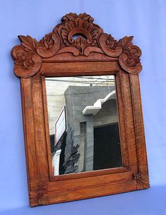 Wholesale from Bali: Bali Rococo -- Carved Wood Mirror Frame (with Glass) -- BROC-055 by Indonesia Export