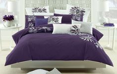 Catalina Purple - released 16/04/14 Exotic and beautiful embroidery is a stand-out element of the rich and royal Catalina Purple, a striking feature display for any bedroom. Bold and vibrant, with a sophisticated approach to floral art, this is a stunning design that will provide a chic and contemporary look with a dramatic sense of style. The quilt cover has press stud closure.