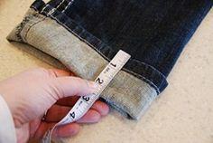 keeping the original lines on hemmed jeans