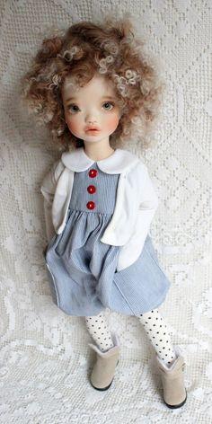 Special Elleki MSD BJD by MeadowDoll in a OOAK Handmade Outfit by MyMeadow