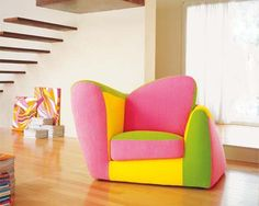 25 Modern Interior Design Ideas Creating Bright Accents with Neon Room Colors Baby Furniture Sets, Toddler Furniture, Funky Furniture, Colorful Furniture, Furniture Design, Plywood Furniture, Furniture Ideas, Colorful Chairs, Cool Chairs