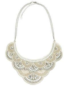 Collier décoré de perles et de cristaux Grace | Chair | Accessorize