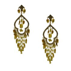 Gold K18 Diamonds & Quartz Diamond Quartz, Diamonds, Drop Earrings, Gold, Jewelry, Jewlery, Jewerly, Schmuck, Drop Earring