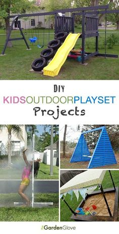DIY Kids Outdoor Playset Projects • A roundup of 12 of the best projects we could find - with tutorials! #outdoordiy