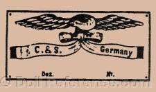 Curnen & Steiner doll mark C & S Doll Maker, Antique Dolls, German, Dots, Antiques, Deutsch, Stitches, Antiquities, Antique