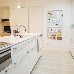 いつもピカピカをキープ♡水回りの手抜き掃除方法 in 2020 Hardwood Floors, Flooring, Housekeeping, Building A House, Life Hacks, Interior Decorating, Kitchen Cabinets, Dining, Closet