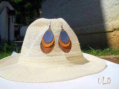 Fringe Leather Earrings Eye Drop Fringe by UniqueLeatherDesign