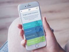 Health Insurance Mobile Design by Tundra Interactive (Melbourne)