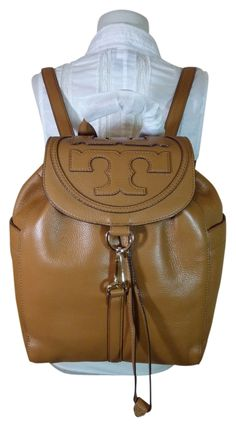 c1fc4546e293 T All-t Brown Tan Leather Backpack