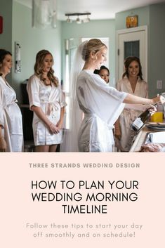 How to plan your wedding morning timeline. Tips on planning the perfect stress free morning. Wedding Quotes, Wedding Advice, Wedding Planning Tips, On Your Wedding Day, Wedding Planner, Destination Wedding, Budget Friendly Honeymoons, Wedding Congratulations, Wedding Morning