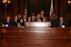 University of Illinois Springfield Political Science students visiting the Capitol building.