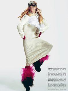 "Madame Germany December 2012  ""Pisten Chic""  Photographer: Kevin Sinclair  Stylist: Natalie Manchot  Hair: Deycke Heidron"