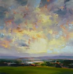 """Valley Sunset by craig mooney Oil ~ 48"""" x 48"""""""