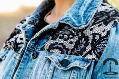 fashion diy: lace jean jacket nice simple contrast