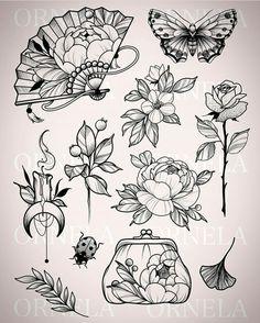 Prox tattoo of Manu ♡ - Prox tattoo of Manu ♡ - Flash Art Tattoos, Body Art Tattoos, Sleeve Tattoos, Tattoo Design Drawings, Tattoo Sketches, Neotraditionelles Tattoo, Tattoo Portfolio, Aesthetic Tattoo, Neo Traditional Tattoo