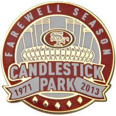 Farewell Candlestick Park | Details about San Francisco 49ers Candlestick Park Farewell Season Pin