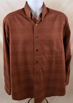Van Heusen Men's Size Medium 15-15 1/2 Long Sleeve Dress Shirt #VanHeusen