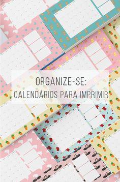 Calendário de abril, maio e junho de graça pra baixar e já organizar o…
