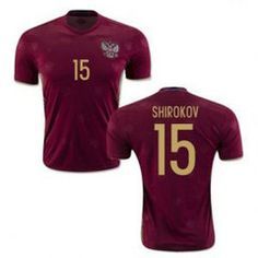 e27bc5129 2016 Russia Soccer Team Shirokov 15 Home Replica Jersey  D994  Cheap  Football Shirts