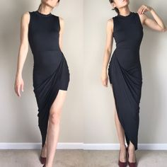 high cut long tail dress Chic High cut dress with long tail. This is the original long tail high cut form fit dress. KC Dresses High Low