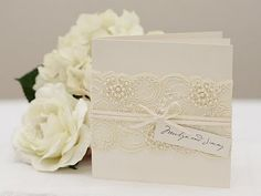 The most simple and beautiful marriage invitation I ever seen. Lace Wedding Invitations, Wedding Stationary, Shower Invitations, Wedding Favors, Wedding Decorations, Invitation Ideas, Invites, Wedding Crafts, Wedding Blog