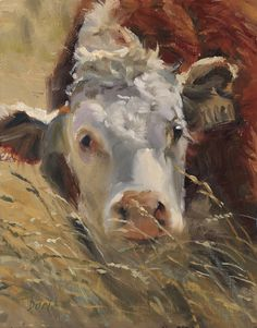 In Tall Grass ( 2014 American Plains Artists National Exhibition) by Daria Shachmut Oil ~ 14 x 11