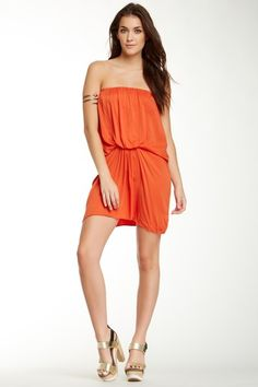 Gautier Cinched Strapless Mini Dress