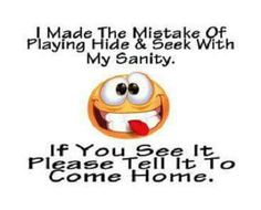 Sanity! Where are you?