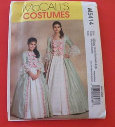 McCall's Misses Sizes 4 to 18 Early American by Gingernells, $15.45