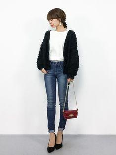 定番だからこそこだわりを♡スキニーデニムで作る大人の秋コーデ in 2020 Japanese Outfits, Korean Outfits, Japanese Fashion, Trendy Outfits, Korea Fashion, Girl Fashion, Fashion Outfits, Womens Fashion, Long Sleeve Outfits